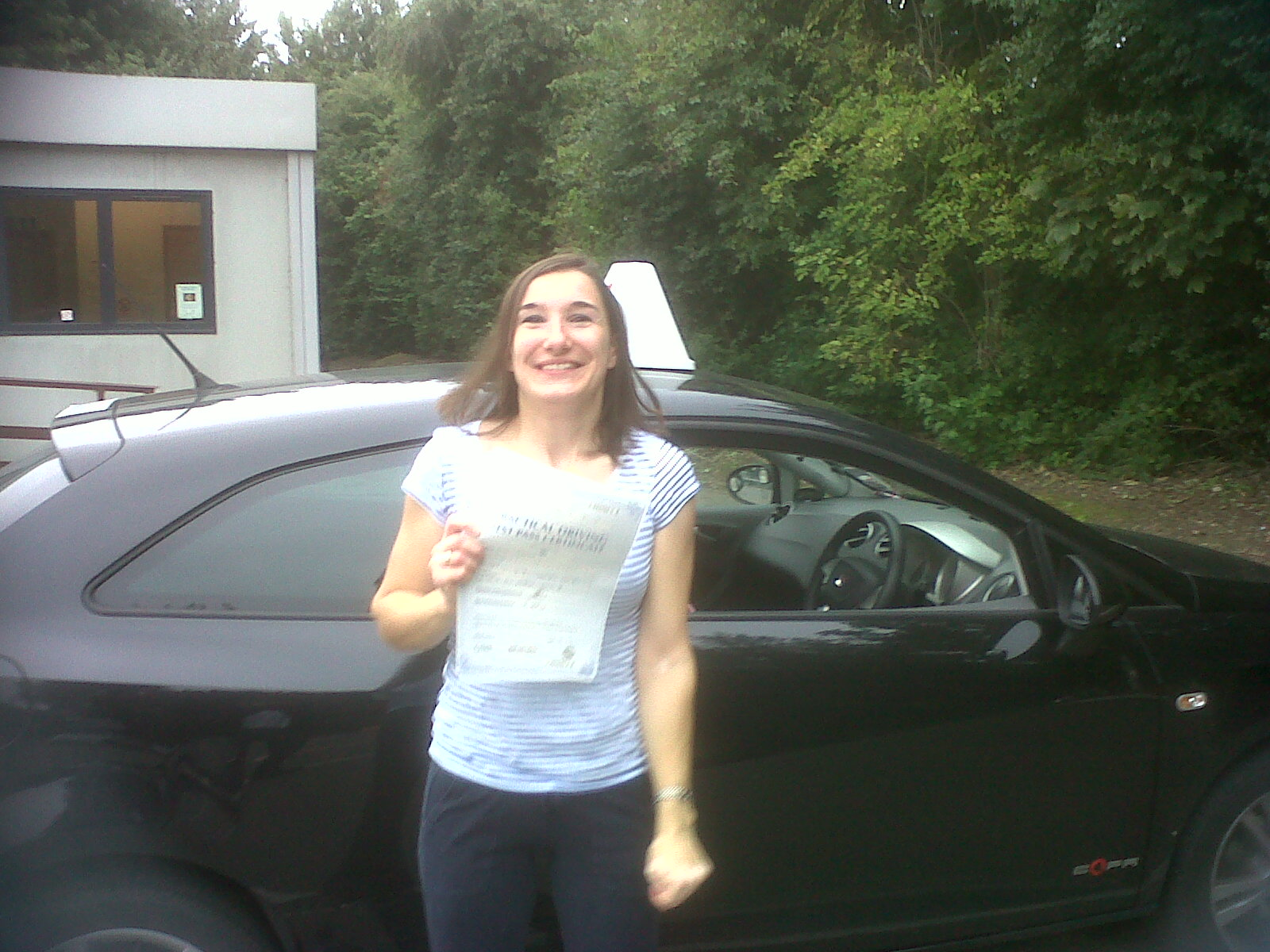 well done NINA just PASSED your driving test this afternoon , great drive